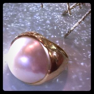 Jewelry - (6) Large 14k Mabe Pearl Ring purchased in Hawaii